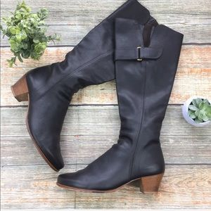 Arche | Leather Knee High Heeled Boots